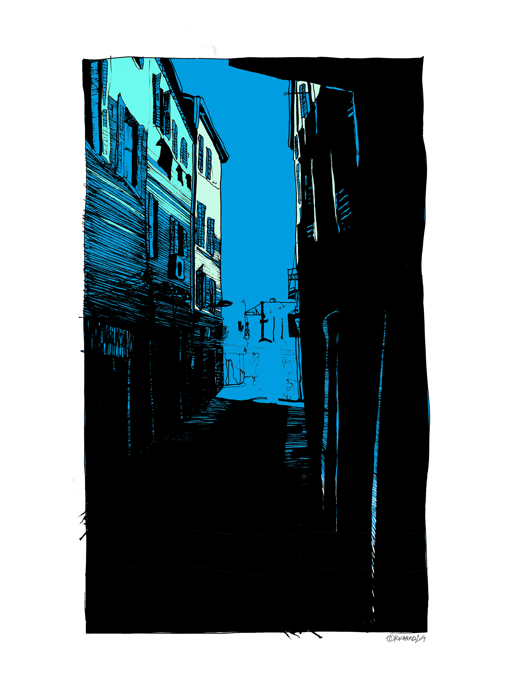 30×40-RUE-BLEUE-Catherine-Richard-La-Ciotat