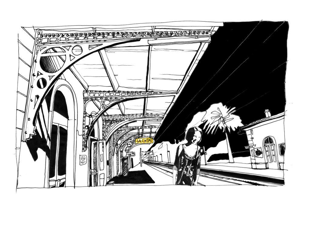 L'arrivée de la fille dans la gare de la Ciotat