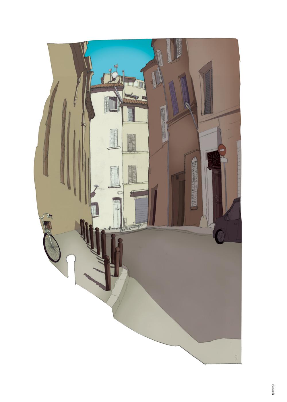 BIKE_STREET_50x70-La-Ciotat-Richard-Mondesir